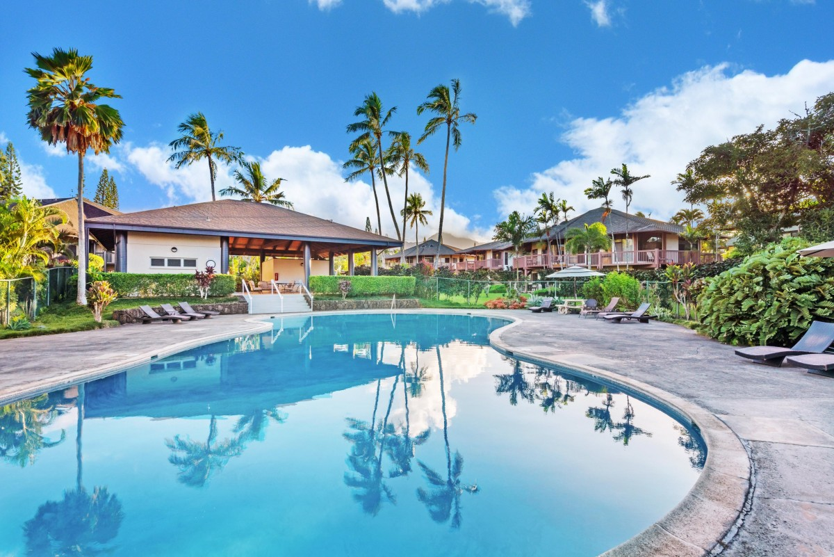 One of the largest pools in Princeville awaits you when you stay at Hoku Lani.